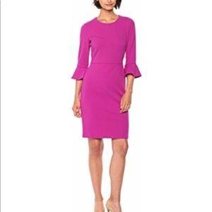 Donna Morgan Magenta Bell Sleeve Dress 8
